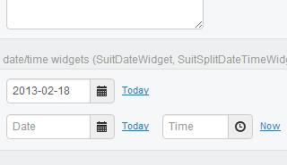 Django Suit Improved date/time widgets